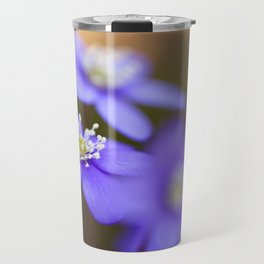 Happy Together Blue Anemones In Forest #decor #Society6 Travel Mug