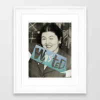 wasted rita Framed Art Prints featuring WASTED by Elizabeth Bello