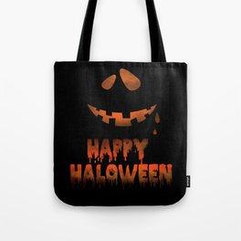 Happy Halloween Evil Smile Tote Bag