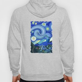 Tardis Art Starry Night Hoody