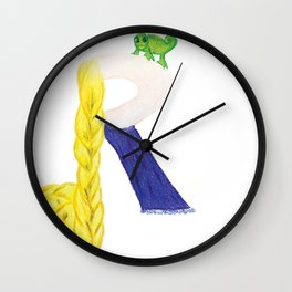 R is for Rapunzel Wall Clock