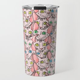 sphynx cats (naked cat) Travel Mug