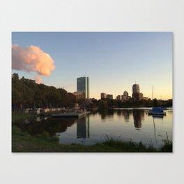Charles River Sunset Canvas Print