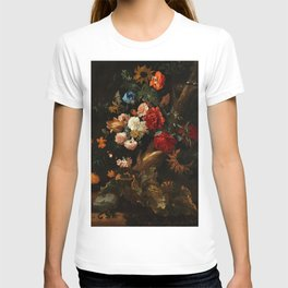 """Ernst Stuven """"Floral still life with Yellow-Bellied Toad and snake"""" T-shirt"""