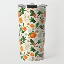 Clementine Crush in Cream Travel Mug