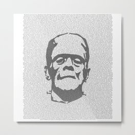 Words of Frankenstein Metal Print