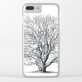 Antique Tree Illustration II Clear iPhone Case