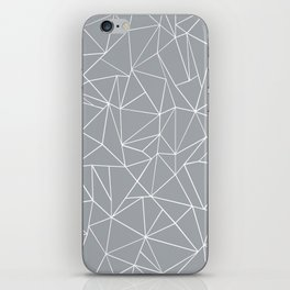 Abstraction Outline Grey iPhone Skin