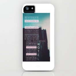 3am thoughts iPhone Case