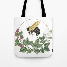 Bombus & Raspberries Tote Bag