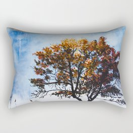 "Original Painting ""Foggy Sunrise"" Rectangular Pillow"