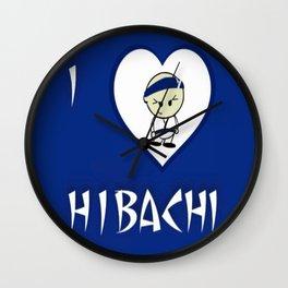 I Luv Hibachi Blue Wall Clock