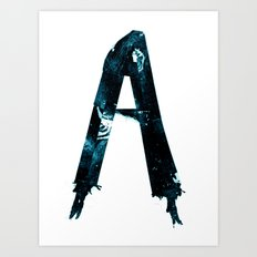 Alphabet Letter A Art Print