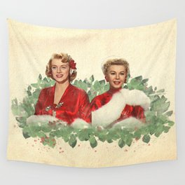 Sisters - A Merry White Christmas Wall Tapestry