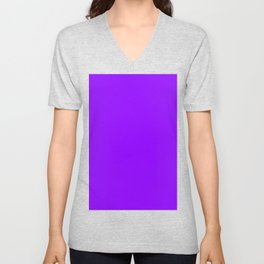Electric Violet Unisex V-Neck