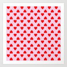 Heart lollipop pattern Art Print