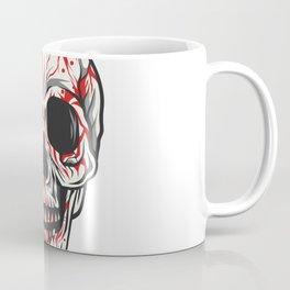 Skull Head Dace Illustration Blood Dripping Coffee Mug