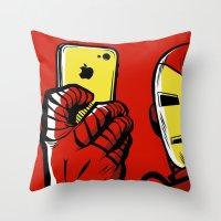 house stark Throw Pillows featuring Stark #Selfie by Butcher Billy