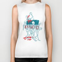 day of the dead Biker Tanks featuring Day of the Dead by Studio Drawgood