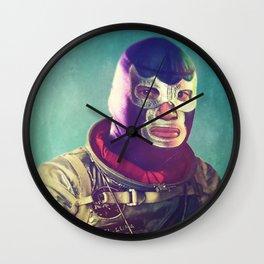 Luna Luchador Wall Clock