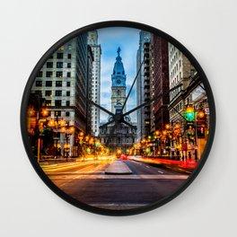 Philadelphia Streets Wall Clock
