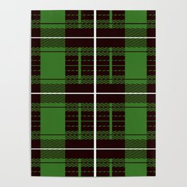 Brown And Green Flannel Pattern Poster