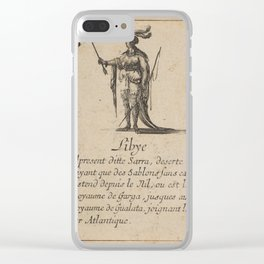 Game of Geography - Libya (Stefano della Bella, 1644) Clear iPhone Case