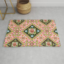 Cottage Pink Pansy Rug