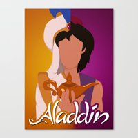 aladdin Canvas Prints featuring Aladdin by hayley phoenix