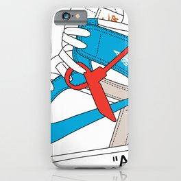 Jordan 1  Of White Poster iPhone Case