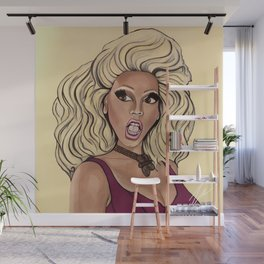"""HEY KITTY GIRL"" BY ROBERT DALLAS Wall Mural"