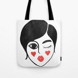 wink kiss Tote Bag