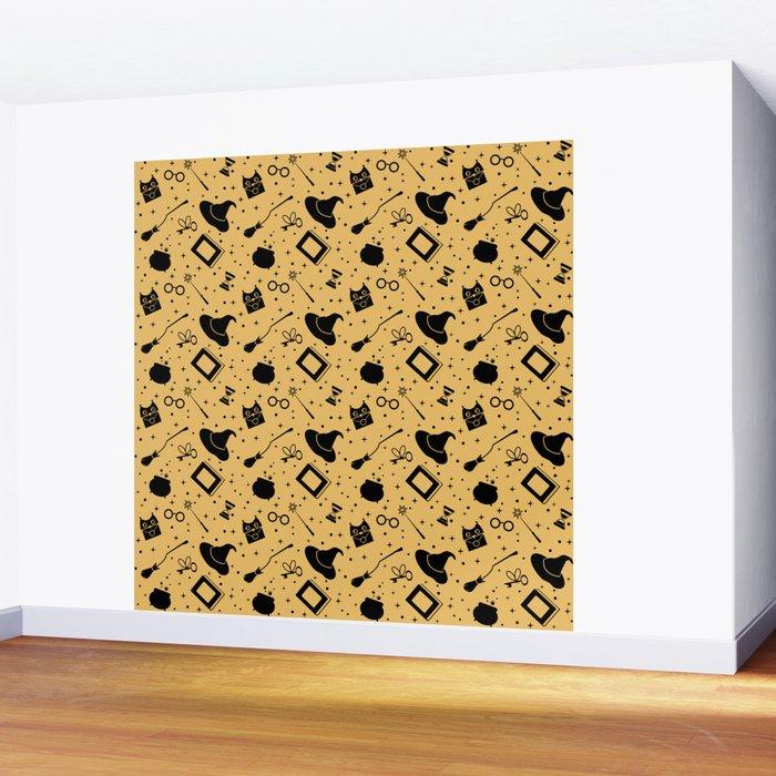 Magic symbols (yellow) Wall Mural
