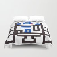 r2d2 Duvet Covers featuring r2d2 by Walter Melon
