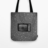tv Tote Bags featuring Television by Mr & Mrs Quirynen