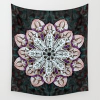 badger Wall Tapestries featuring badger mandala by Skullianz