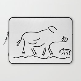 wild boar young wild sow Laptop Sleeve