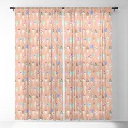 Stardust Sorbet Sheer Curtain