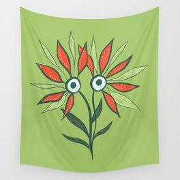 Cute Eyes Flower Monster Wall Tapestry