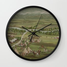 Vintage Pictorial Map of The Denver Settlement (1891) Wall Clock