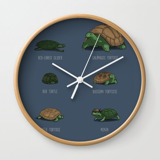 Know Your Turtles Wall Clock