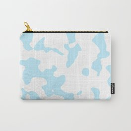 Large Spots - White and Light Blue Carry-All Pouch