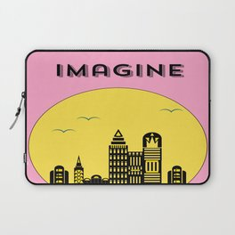 The Imaginary City (pink) Laptop Sleeve