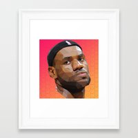 lebron Framed Art Prints featuring Bron Bron by Joshua Burkett Designs