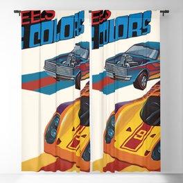 Vintage 1974 Hot Wheels Flying Colors Redline Vintage Poster Blackout Curtain