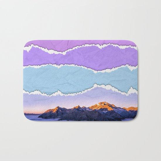 Mountain layers Bath Mat