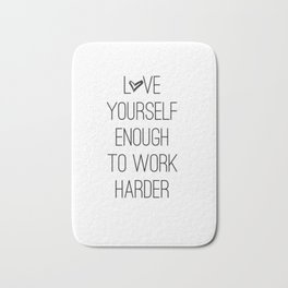 Love yourself Bath Mat