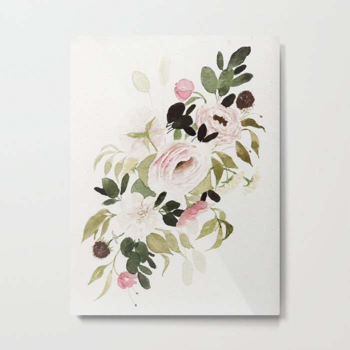 Romantic Loose Rose Bouquet Metal Print
