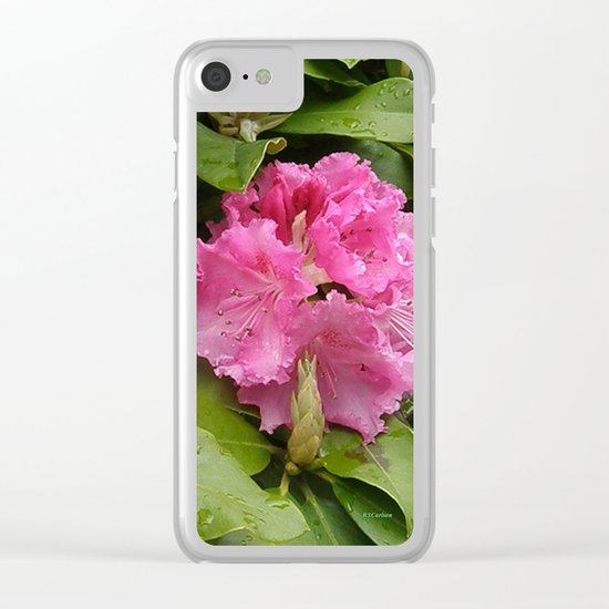 Rhododendron After Rain Clear iPhone Case