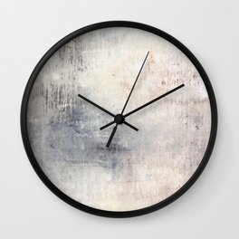 """""""1198 abstract beige/silver wall"""" Wall Clock"""